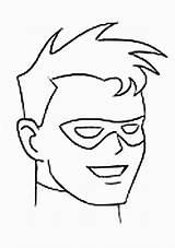 Coloring Robin Superhero sketch template