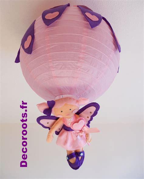luminaire chambre bebe fille lustre enfant bébé fille coeur violet et quot la fée des