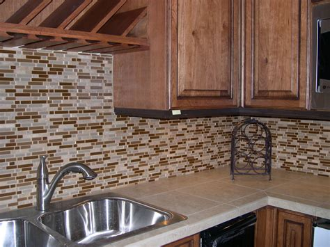 kitchen kitchen design with small tile mosaic backsplash