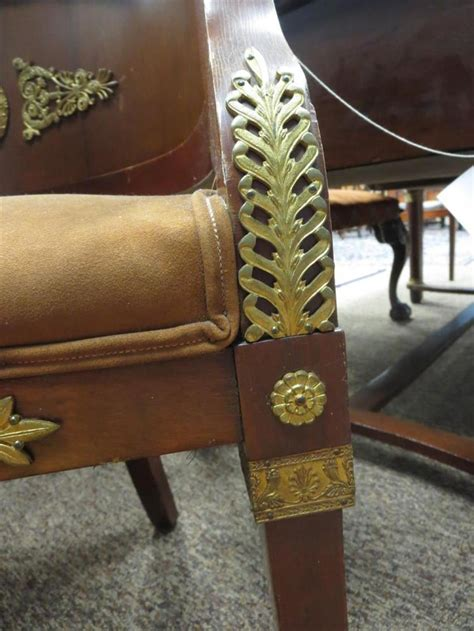 napoleon iii bronze mounted mahogany fauteuil de cabinet
