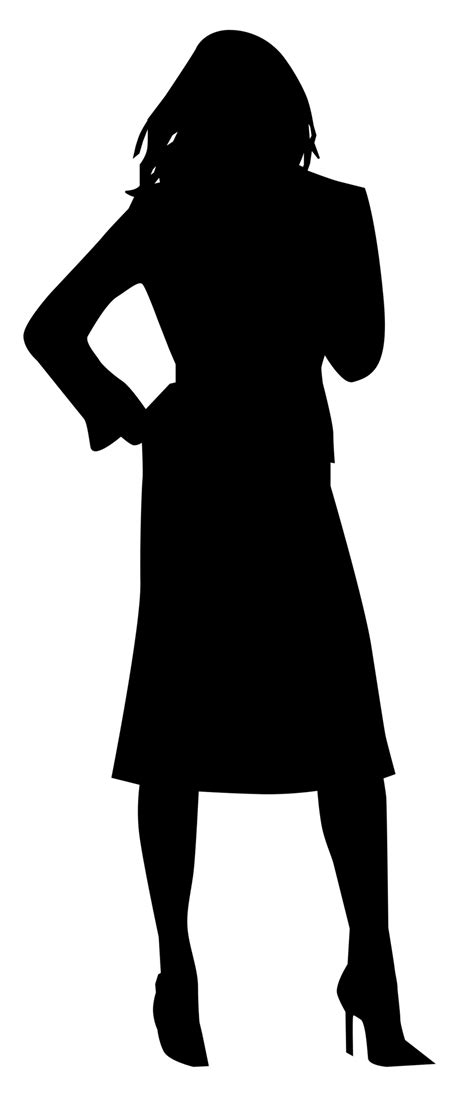 woman business  stock photo illustrated silhouette