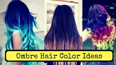 Ombre Hair Color Ideas 2018 Blond Brown Red And Black