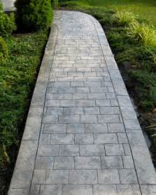 Cobblestone Stamped Concrete Walkways