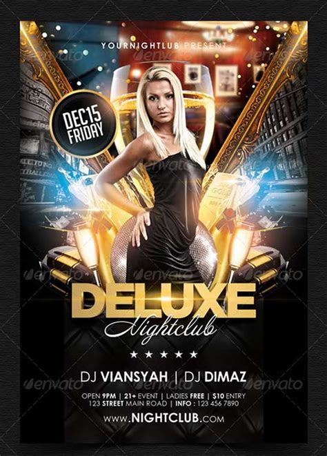 night club flier template business