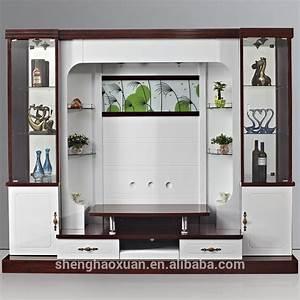 Shx design living room tv set furniture 9905 led tv wall for Modern set of living room furniture wall tv unit