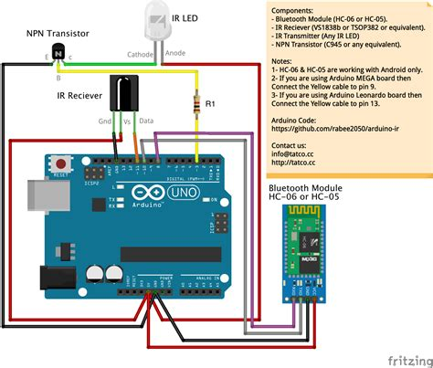 Receiver Wire Diagram by Infrared Remote Emulator Arduino Project Hub