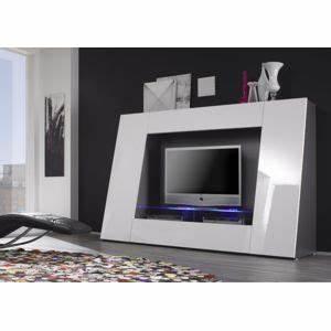 Meuble Tv Carrefour : envie de meubles meuble tv blanc laqu avec led pix pas cher achat vente meubles tv hi fi ~ Teatrodelosmanantiales.com Idées de Décoration