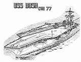 Coloring Carrier Aircraft Pages Ship Cvn Bush Plane Navy Battleship Ww2 Take Template Attack Sky Templates Coloringsky Sketch sketch template