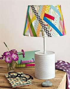 Abat Jour Pour Lampe Sur Pied : un abat jour r alis en masking tape marie claire ~ Melissatoandfro.com Idées de Décoration