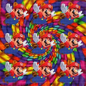 MARIO X9 - BLOTTER ART - psychedelic perforated LSD acid ...