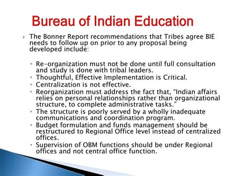 bureau of indian education ppt tribal interior budget council fiscal year 2015