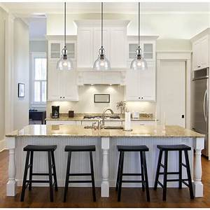 Glass pendant lights over kitchen island : Awesome pendant lighting over kitchen island also mini