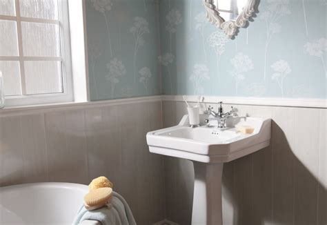 swish marbrex white wood bathroom wall cladding