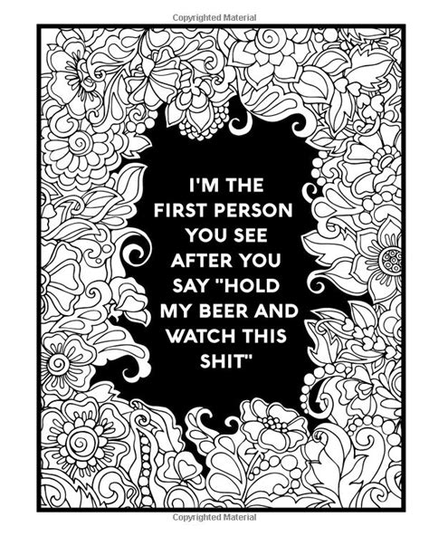 amazoncom nurse coloring book sweary midnight edition  totally relatable swear word adult