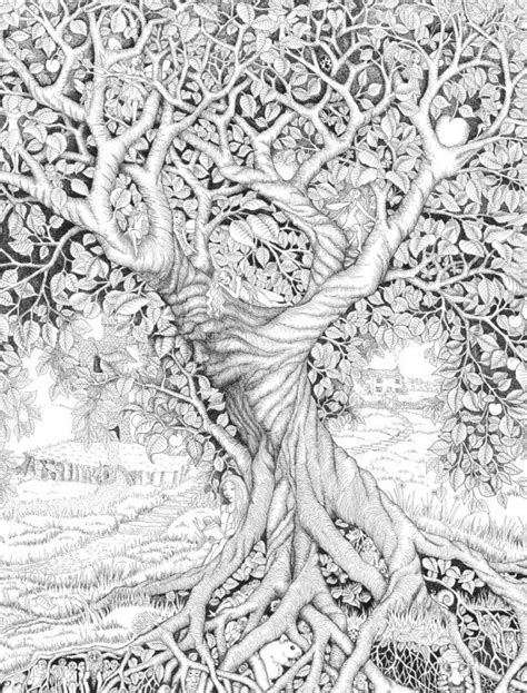 SciFi and Fantasy Art tree of life by Stephanie McInnes