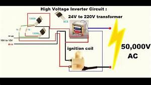 Make An Inverter - High Voltage 12v Dc To 50000v Ac