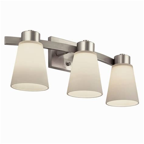 Brushed Nickel Bathroom Light Fixtures by Fascinating Lowes Bathroom Light Fixtures Brushed Nickel