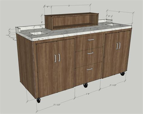 Table by stories claim your kitchen. Six Foot Rolling Coffee Cart - Envisionary Images