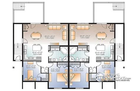 plan appartement 2 chambres plan maison 2 appartements