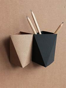3box origami paper box desk pen holder pencil cup With cardboard document holder