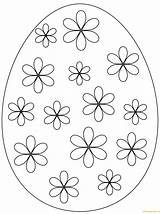 Easter Egg Coloring Pages Printable Flowers Eggs Simple Flower Supercoloring Drawing Pattern Puzzle Prints sketch template