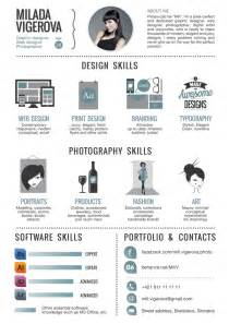 curriculum vitae for graphic designers infographic resume by teresa mira