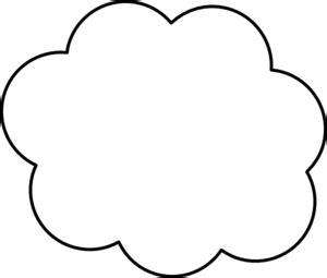 printable cloud template cloud template printable clipart best