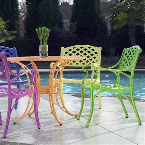 best paint for cast aluminum patio furniture cross weave patio bistro set bright patio furniture that