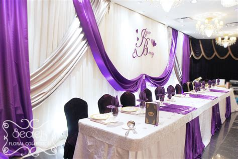 purple silver and white wedding decorations a crystallized royal purple and silver wedding reception decoration toronto wedding decor