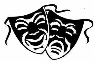 COMEDY TRAGEDY DRAMA MASKS ACTING WALL DECOR DECAL