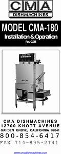 Cma Dishmachines Rev 2 05 180 Users Manual Wws