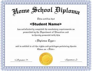 Homeschool diploma template for Homeschool diploma templates