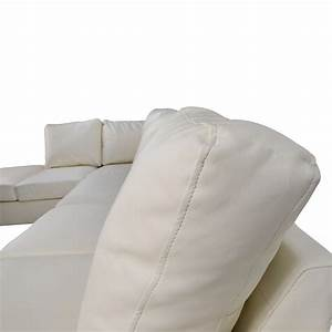 White leather sectional sofa best quality leather sofas for Used modern sectional sofa