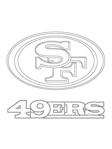 san francisco ers logo coloring page  printable