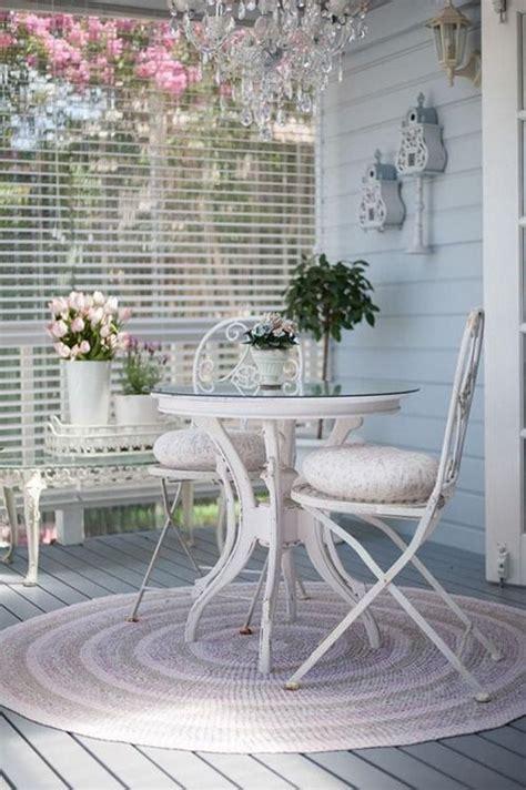 patios  terrazas en estilo shabby chic