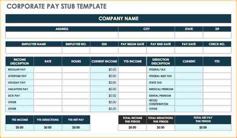 pay stub spreadsheet secure paystub