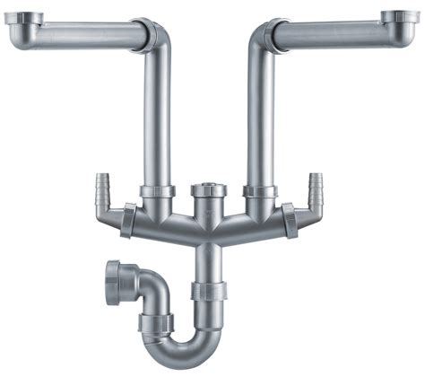 kitchen sink plumbing kit franke siphon ii plumbing kit for 1 5 and 2 0 bowl kitchen