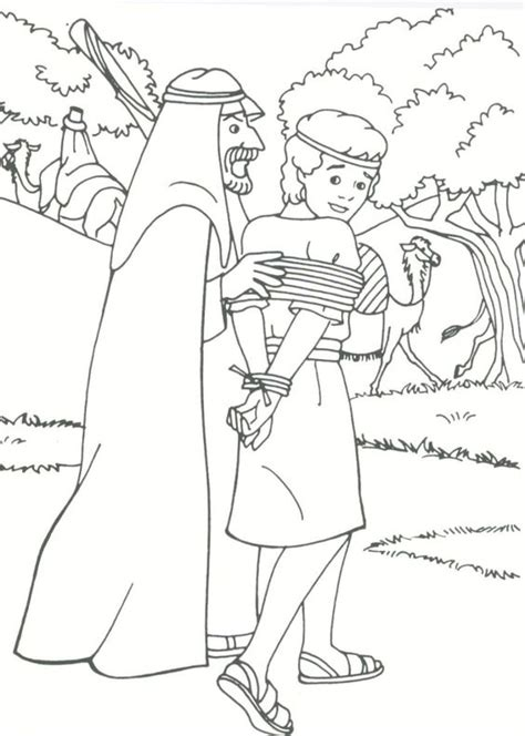 joseph sold  slavery coloring pages coloring home