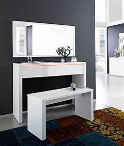 Coiffeuse Moderne Avec Miroir : console murale design ~ Farleysfitness.com Idées de Décoration