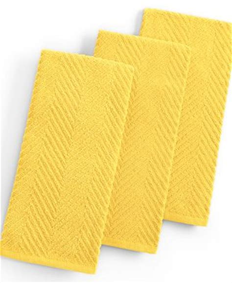 Martha Stewart Kitchen Collection by Martha Stewart Collection Set Of 3 Textured Terry Yellow