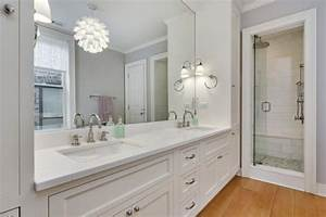 Transitional, Guest, Bathroom, With, Glass