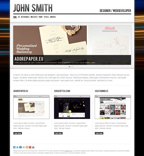 Personal Cv Website Template by Smith Personal Cv Portfolio Website Template By Odincov Themeforest