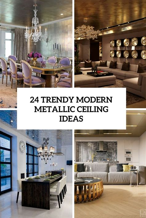 trendy modern metal ceiling decor ideas shelterness