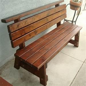 Wooden Bench Diy Ideas On Pinterest Outdoor Benches Garden