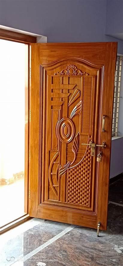 Door Single Wood Main Double Wooden Doors