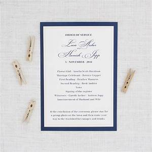 traditional navy blue and blush pink wedding program be With traditional wedding invitations nz