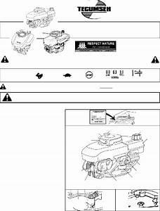 Tecumseh Lev100 Lawn Mower Accessories Operator U0026 39 S Manual