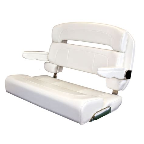 boat bench seat taco marine 40 quot deluxe helm bench chair white