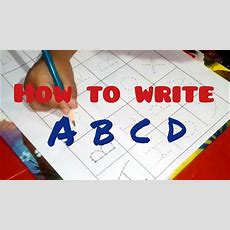 How To Write Alphabet Capital Letters  Abcd Writing Practice For Children Youtube