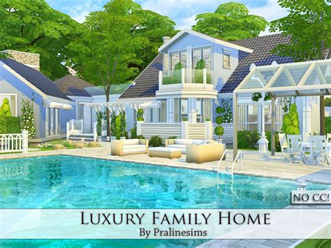 luxury family home  sims  catalog